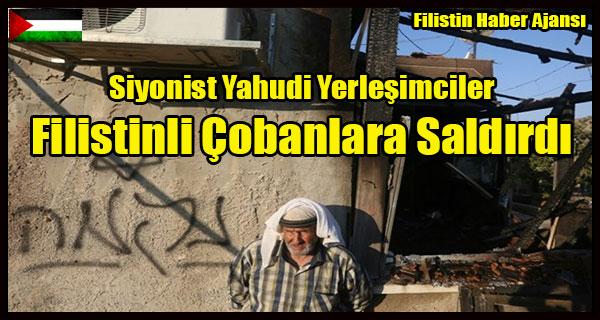 Siyonist Yahudi Yerlesimciler Filistinli Cobanlara Saldirdi