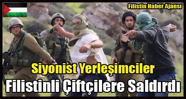 Siyonist Yerlesimciler Filistinli Ciftcilere Saldirdi
