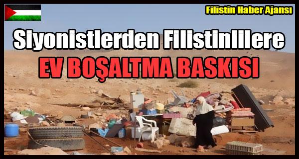 Siyonistlerden Filistinlilere EV BOSALTMA BASKISI