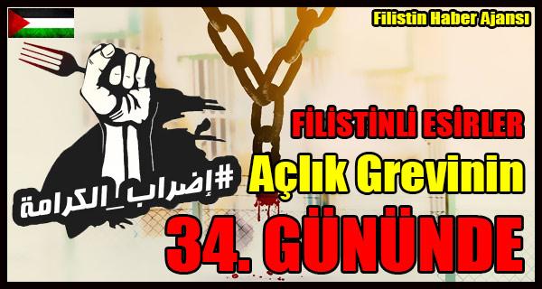 FILISTINLI ESIRLER Aclik Grevinin 34