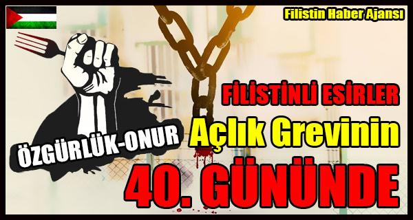 FILISTINLI ESIRLER Aclik Grevinin 40