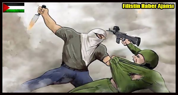 KARIKATUR- Filistin Direnisi BICAK INTIFADASI Siyonistleri Hedef Aliyor