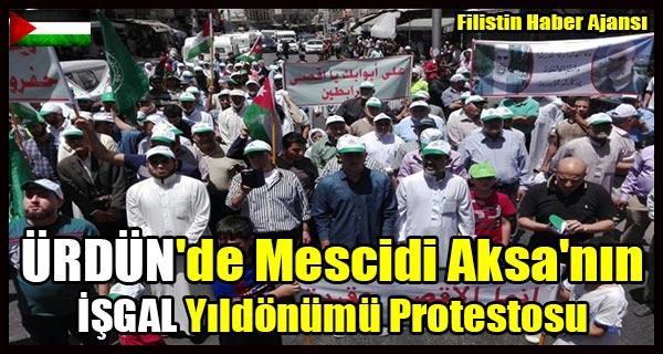 URDUN'de Mescidi Aksa'nin ISGAL Yildonumu Protestosu