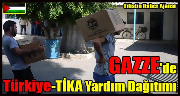 GAZZE'de Turkiye - TIKA Yardim Dagitimi