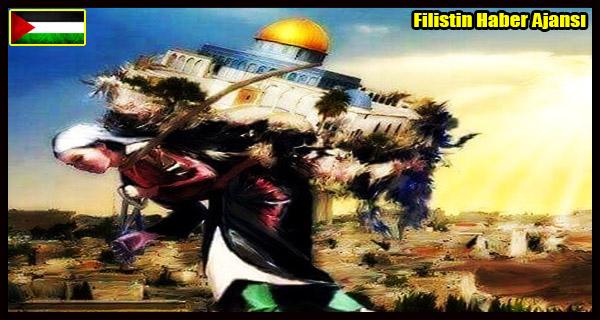 KARIKATUR- MESCIDI AKSA'nin Yukunu Tasiyan Filistinli Fedakar ANNE