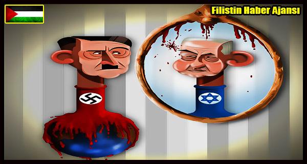 KARIKATUR- HITLER Katliam Yalani ve ISRAIL Katliam Gercegi