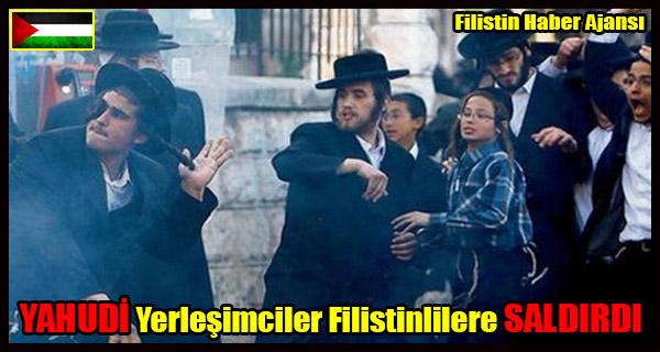 YAHUDI Yerlesimciler Filistinlilere SALDIRDI