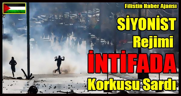 SIYONIST Rejimi INTIFADA Korkusu Sardi